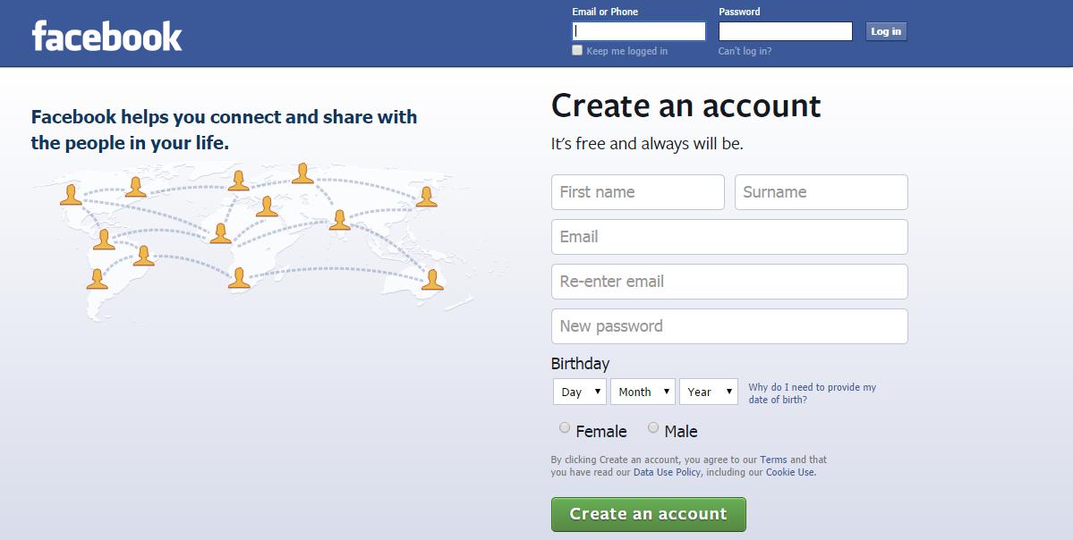 fejsbuk prijava na nalog