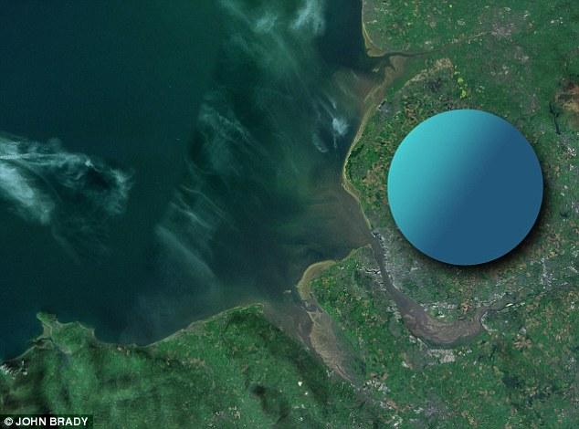 Veličina neutronske zvezde u odnosu na Zemlju. Foto: John Brady