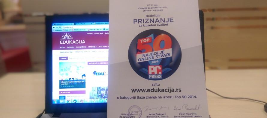 Edukacija.rs među najboljim u Srbiji!