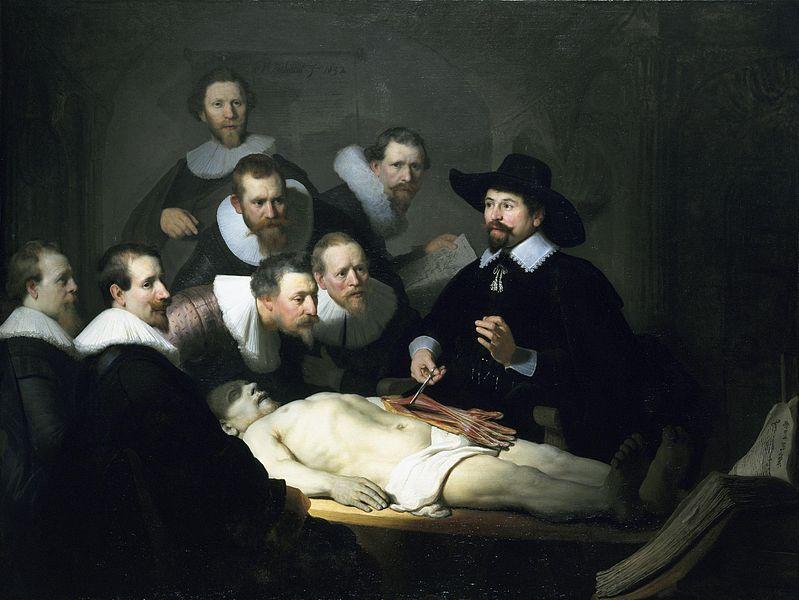 """Čas anatomije"" - jedna od najpoznatijih dela Rembranta"