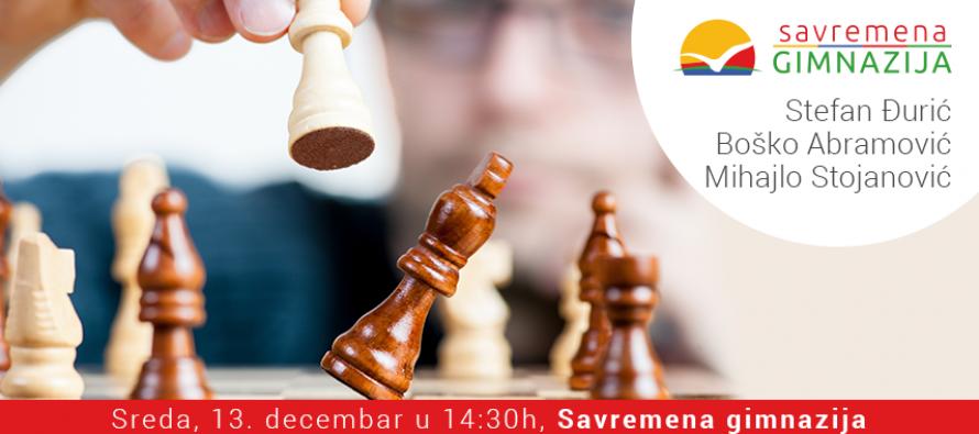 Prijavite se na vreme: Zaigrajte šah sa srpskim velemajstorima u Savremenoj gimnaziji