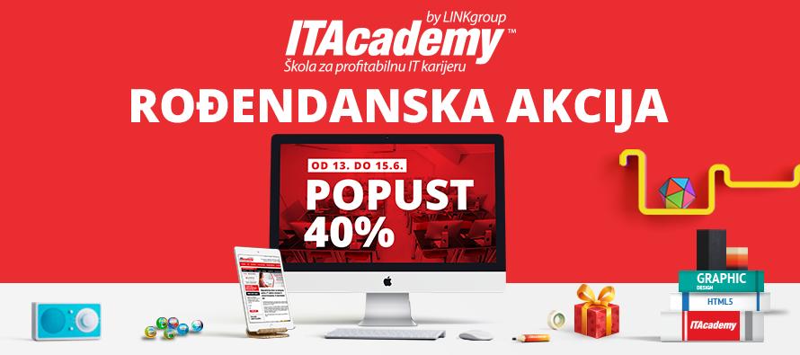Rođendan ITAcademy – na poklon 40 % popusta pri upisu