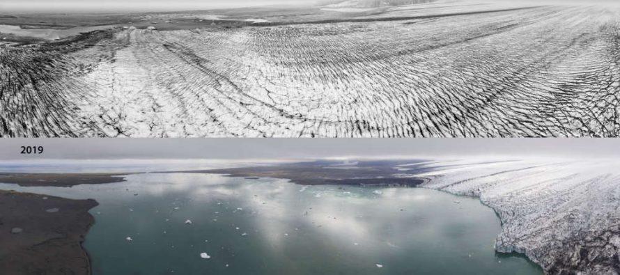 Šokantne fotografije pokazale rapidno otapanje glečera na Islandu