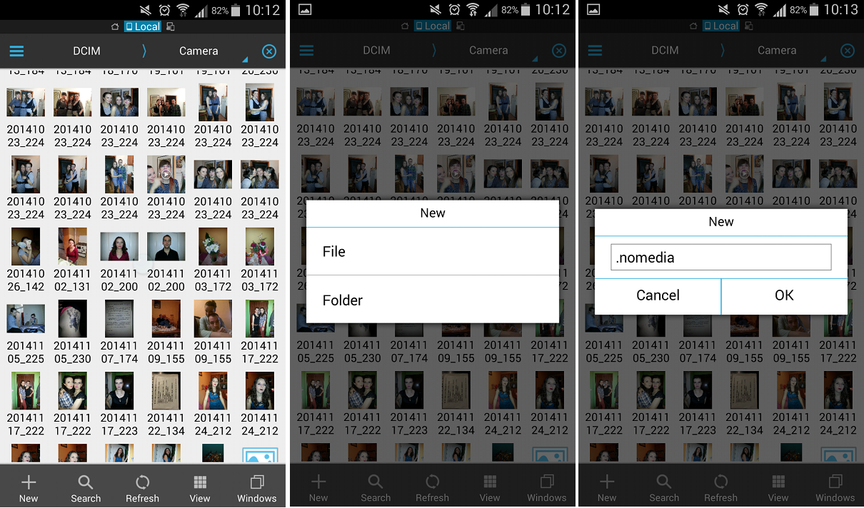 Skrivanje fotografija preko ES File Explorer aplikacije. Foto: Edukacija.rs
