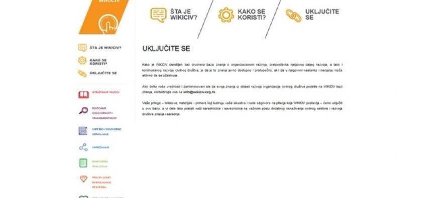 WIKICIV – baza znanja za organizacije civilnog društva