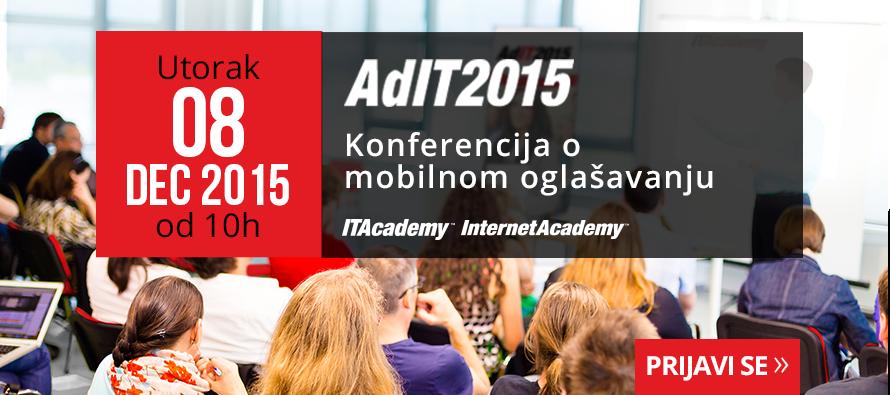 Besplatno prisustvo na ADIT2015 konferenciji