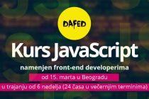 DaFED: Kurs JavaScript u Beogradu