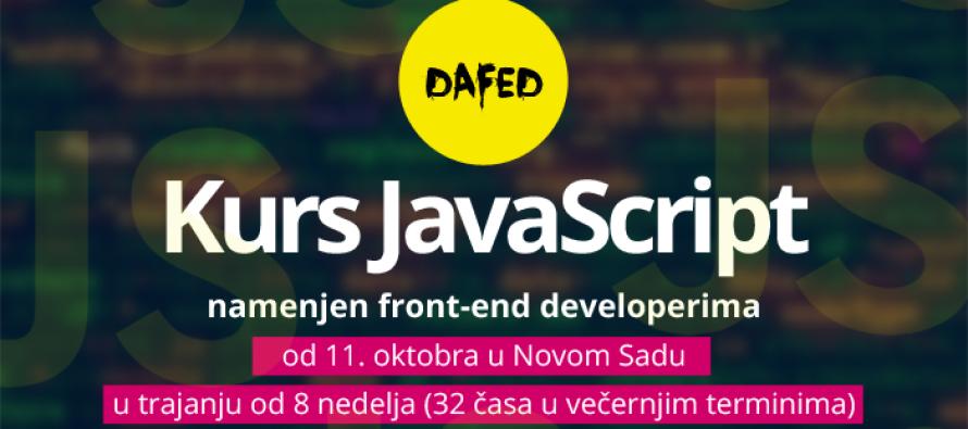 DaFED: Otvorene prijave za kurs JavaScript