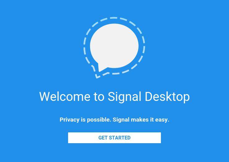 Signal postoji i kao aplikacija za desktop računare