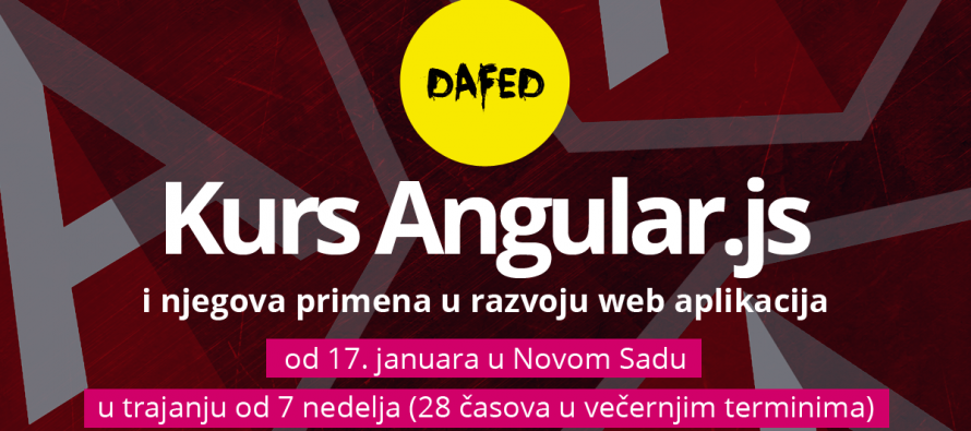 DaFED pokreće kurs Uvod u Angular.js u Novom Sadu – Prijave otvorene
