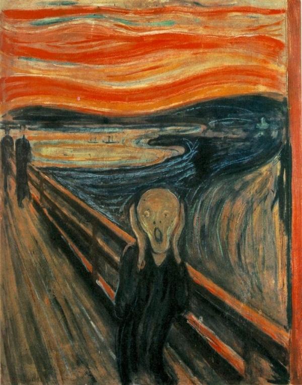 """""""Krik"""" - najpznatija slika Edvarda Munka"""