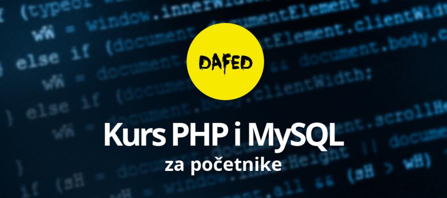 DaFED pokreće kurs PHP i MySQL programiranje za početnike u Novom Sadu – Prijave otvorene