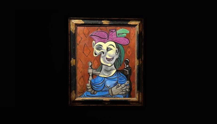 Zena koja sedi u plavoj haljini Pablo Pikaso