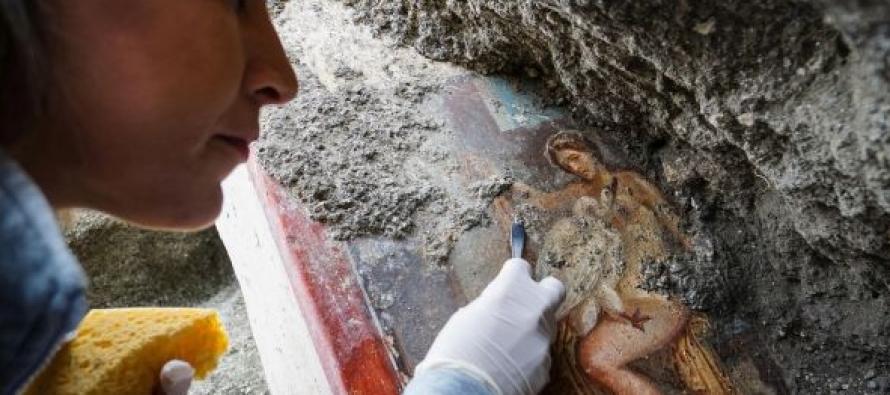 Otkrivena zanimljiva freska u Pompeji!