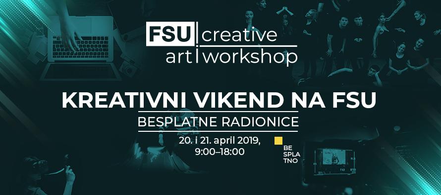 ZA SREDNJOŠKOLCE KREATIVCE: Prijavite se za creative art workshop na FSU! (BESPLATNO)