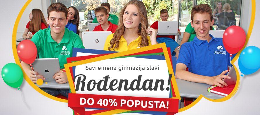 Velika rođendanska akcija Savremene gimnazije: 40% popusta za prijave do petka