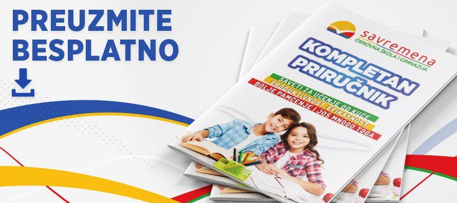 Preuzmite BESPLATNO Kompletan priručnik za učenje od kuće za osnovce i srednjoškolce