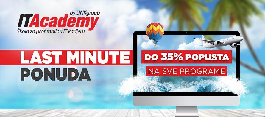 Najbolja last minute ponuda ovog leta: Uštedite PREKO 650 EVRA i pođite na put od početnika do uspešnog IT profesionalca