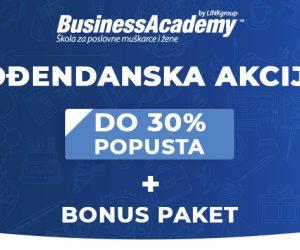 Velika rođendanska akcija na BusinessAcademy: Iskoristite do 30% popusta za najsavremenije poslovno školovanje