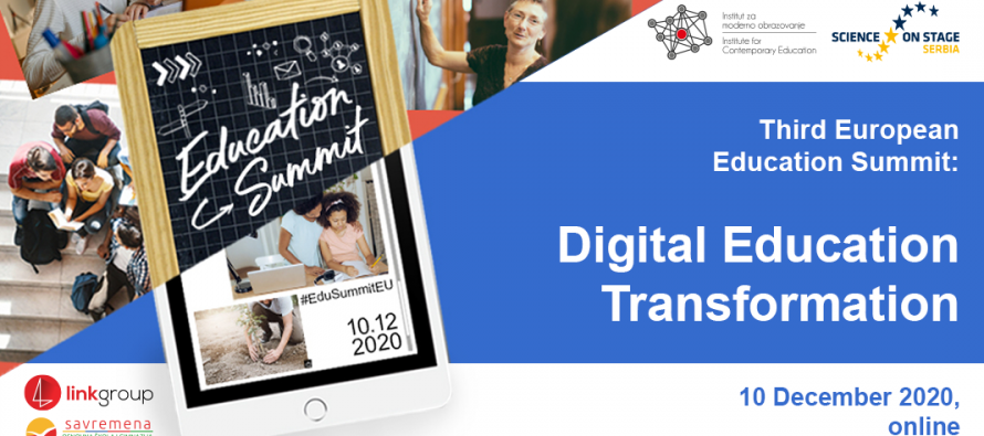 "Srbija na velikom evropskom samitu ""Digitalna transformacija obrazovanja"""
