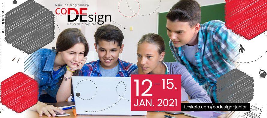 Prijavite se besplatno za onlajn Zimsku školu programiranja za osnovce – coDEsign JUNIOR2021