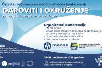"Četvrta međunadona naučno-stručna konferencija  ""Daroviti i okruženje – porodično, obrazovno, poslovno"""