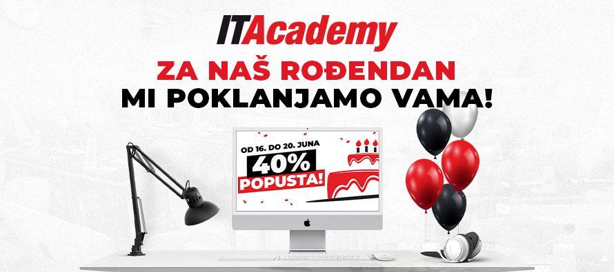 ITAcademy vam za svoj rođendan poklanja 40% popusta na upis