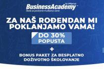 Rođendanski poklon BusinessAcademy: do 30% POPUSTA i BONUS paket za vrhunsko školovanje